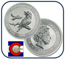 2004 Australia Kookaburra 1 oz. Silver Coin - BU direct from Perth Mint roll