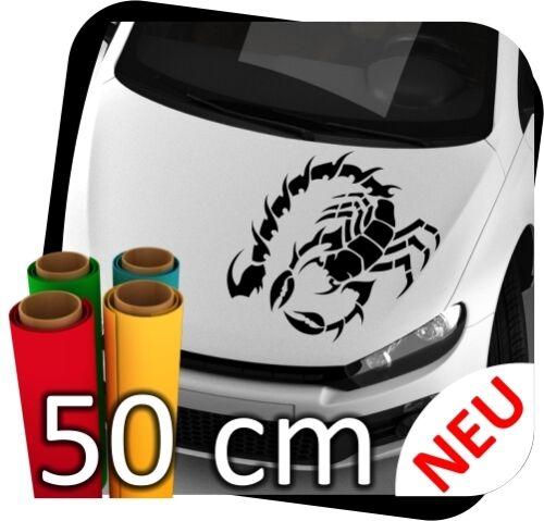 50cm voiture des autocollants scorpion signe du zodiaque tribal tuning scorpion nº 2