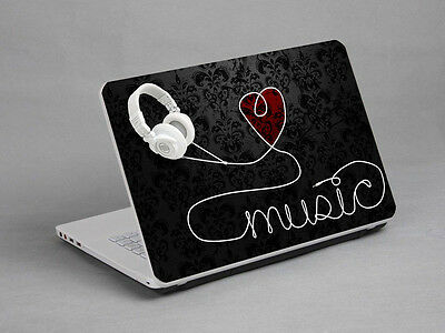 "Laptop Notebook Skin Sticker Cover Deco Headphone 17"" HP THINKPAD DELL TOSHIBA"
