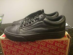 vans old skool mte black leather