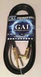 Cbi Performer Series Ga1-g Guitare Câble Usa Made Or Neutrik Angle 15 Ft (environ 4.57 M)-afficher Le Titre D'origine