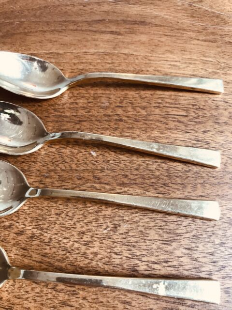 "Set of 6 with MONOGRAM /""W/"" 5 7//8/"" DIRILYTE goldware EMPRESS pattern Teaspoon"
