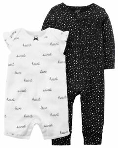 749ff5efe55 New Baby Girl Carter s Heart Coverall   Heart Sweet Love Romper Set ...