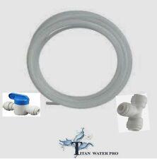"Refrigerator - Ice Maker kit - Tubing, Union T, inline ball valve 1/4"" QC"