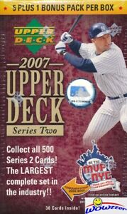 2007-Upper-Deck-Series-2-Baseball-Factory-Sealed-Blaster-Box