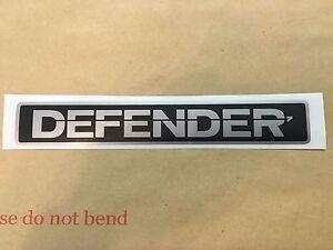 Land-Rover-Defender-Front-Badge-Silver-Black-Decal-Restoration-Sticker-Non-Oem