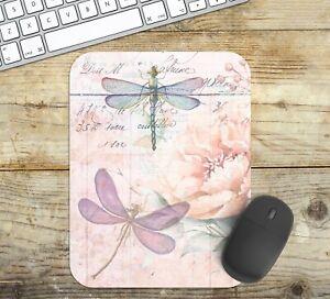Dragonfly Mouse Pad Easy Glide Non Slip Tough Neoprene