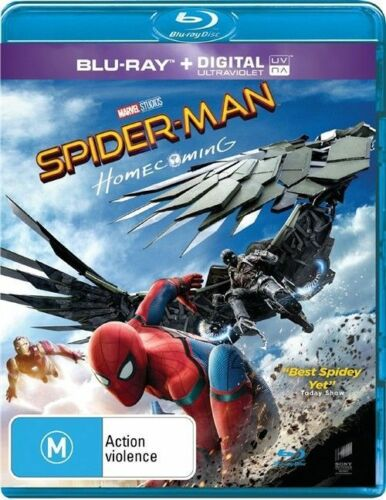 1 of 1 - Spider-Man - Homecoming (Blu-ray, 2017)