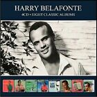 Harry Belafonte Eight (8) Classic Albums Sings of The Caribbean Calypso 4 CD