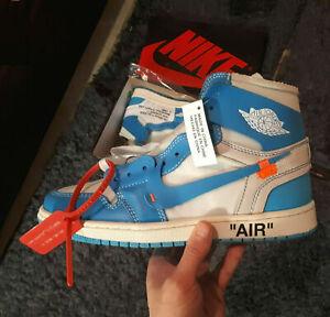 Details about OFF-WHITE x Air Jordan 1 Retro High OG 'UNC' Blue [AQ0818-148]
