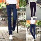 Fashion Men's Designed Straight Slim Fit Long Jeans Pants Skinny Denim Trousers