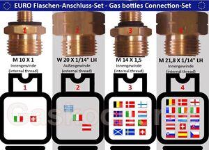 EURO-FLASCHEN-SET-4-teilig-Gasflaschen-Anschluss-Set-Adapter-Ubergangsstutzen