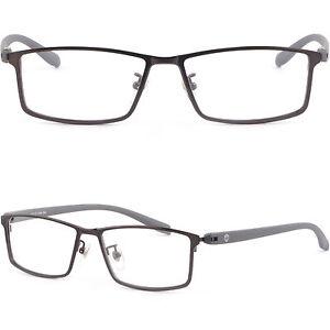 Leicht Herren Brille Brillengestell Titan Metall Fassung Vollrand Gestell Grau vgqbVty6