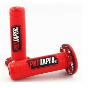 Paire de poignée Pro Taper Fluo Rouge Pour Motos-Cross Simson Aprilia Benelli El