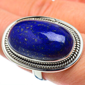 Huge Lapis Lazuli 925 Sterling Silver Ring Size 9.5 Ana Co Jewelry R50224F