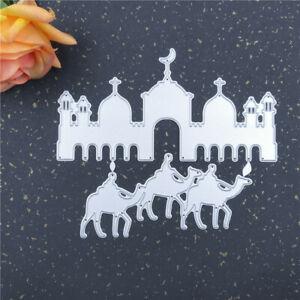 Stanzschablone-Moschee-Kamel-Weihnachten-Hochzeit-Oster-Geburstag-Karte-Album