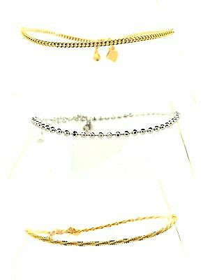 STUNNING  REAL GOLD SILVER PLATED ANKLET ANKLE CHAIN INDIAN PAYAL BOLLYWOOD