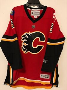 outlet store 1ceaf e8ff4 Details about NHL Reebok Calgary Flames Phaneuf Youth Size L/XL Hockey  Jersey Pre-Owned