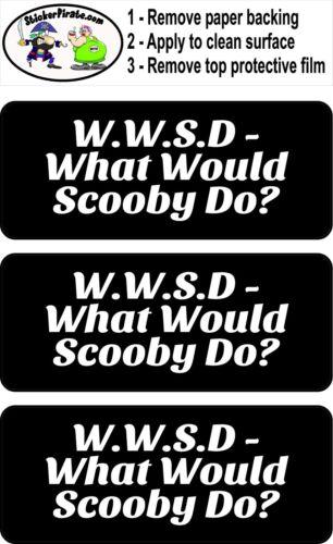 3 What Would Scooby Do Hard Hat Biker Helmet Sticker Bs565