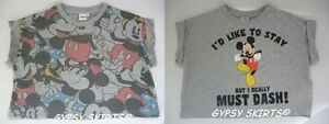 CROP-TOP-TEE-DISNEY-MICKY-MINNIE-MOUSE-CARTOON-T-SHIRT-GRAPHIC-VINTAGE-FESTIVAL