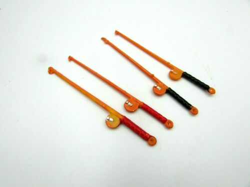 4 per Package Vtg Miniature FISHING POLES Fairy Crafts Dollhouse NOS