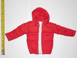 """1//6 Scale Hot Red Down Jacket for 12/"""" Action Figure Toys"""