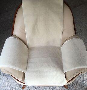 Housse-de-Fauteuil-en-blanc-naturel-BOUCLE-Coussin-de-chaise-jete-100-laine