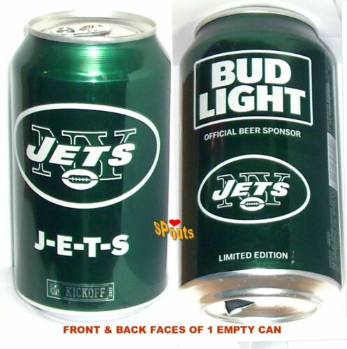 2017 NEW YORK JETS BUD LIGHT KICKOFF BEER CAN GREEN FOOTBALL NY SPORTS MAN CAVE