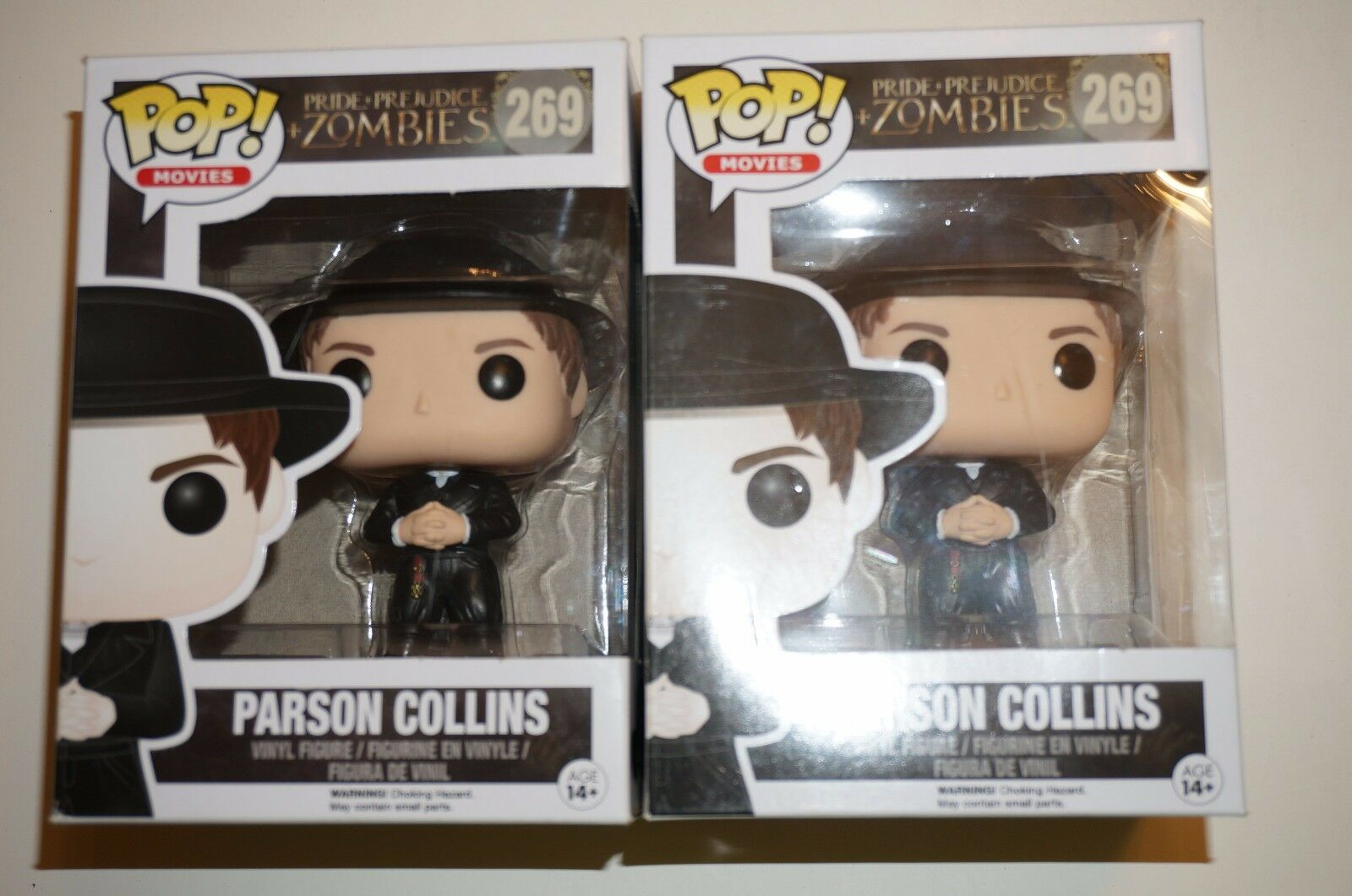 Pop Movies Pride Prejudice Zombies 269 Parson Collins figure Funko 75729