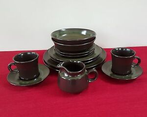 12-PIECE-CREAMER-FRANCISCAN-MADEIRA-DINNER-PLATE-CEREAL-SOUP-BOWL-CUP-PLACE-SET