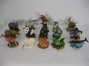 WORLD-WILDLIFE-FUND-2001-SET-OF-15-PCS-ORNAMENT-ANIMAL-FIGURINE