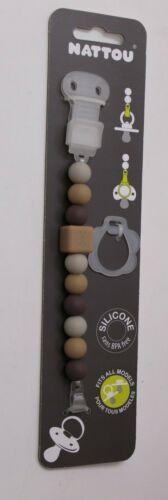 Nattou Baby cadena para chupete schnullerband soportes de chupete Stone silicona nuevo