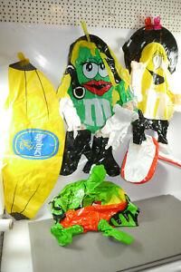 Advertising Figures Ausblasbar 2 X M&M'S Chiquita Banana Albi Juice Apple (K58)