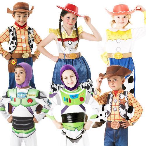 Toy Story Kids Fancy Dress Disney Movie Characters Girls Boys Childrens Costume