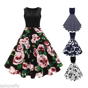 60s-Women-1950s-Vintage-Retro-Elegant-Rockabilly-Cocktail-Prom-Party-Swing-Dress