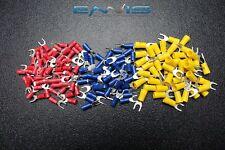 150 Pk 10 12 14 16 18 22 Gauge Vinyl Spade Connector 50 Pcs Ea 10 Terminal Fork