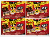 4 Raid Bait Station Roach Killer 12 Pk Easy To Use, No Clean-up, No Odor