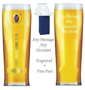 Birthday Gifts Personalised Engraved Branded Pint Strongbow heritage glass