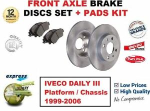 FOR IVECO DAILY III Platform / Chassis 1999-2006 FRONT AXLE BRAKE PADS + DISCS
