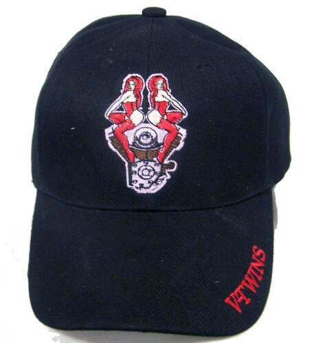BUY 1 GET 1 FREE BIKER VTWIN GIRLS W CHERRIES BIKER BASEBALL HAT cap #HAT8 NEW