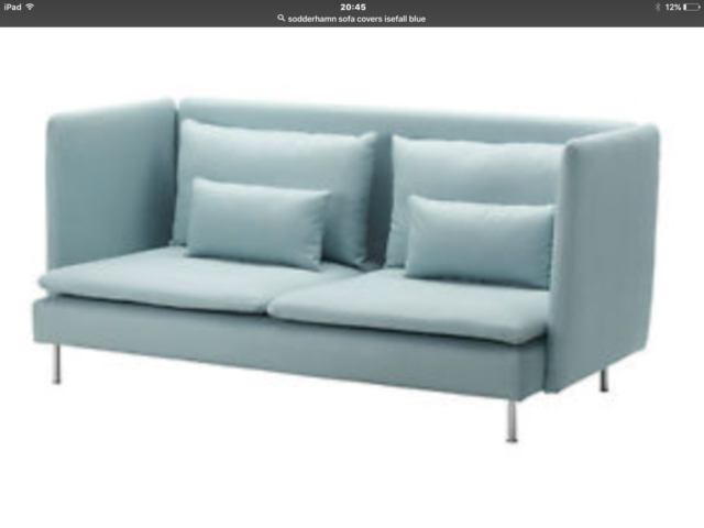 New Replacement Slipcover For IKEA Soderhamn 3 Seater Sofa Cover Isefall  Blue