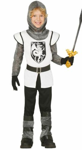 Boys Medieval Knight Crusader Camelot Fancy Dress Costume Book Day Outfit