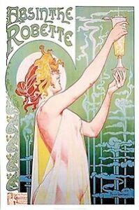 HENRI-PRIVAT-LIVEMONT-ART-POSTER-ABSINTHE-ROBETTE-24x36-Wine-Champagne