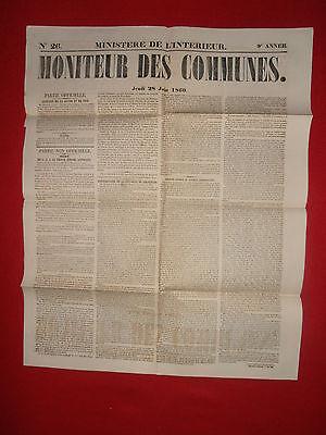 Journal Le Moniteur Des Communes Ministere De L'interieur N°26 - 28 Juin 1860 100% Hoogwaardige Materialen