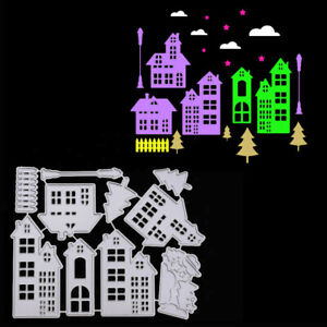 DIY House Cutting Dies Stencil For Scrapbooking Paper Christmas Card Embossing