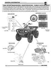 Polaris 2004 ATV Sportsman 400 500 service & repair manual in 3-ring binder