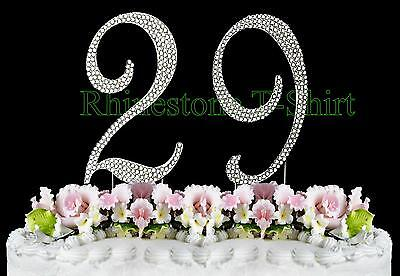 Remarkable Large Rhinestone Number 29 Cake Topper 29Th Birthday Wedding Personalised Birthday Cards Arneslily Jamesorg