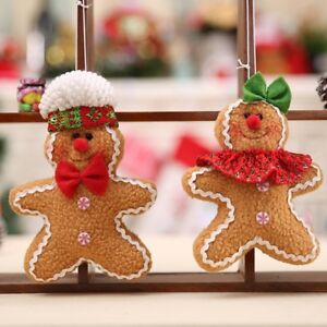 image is loading 1pc gingerbread man christmas tree hanging ornaments festival