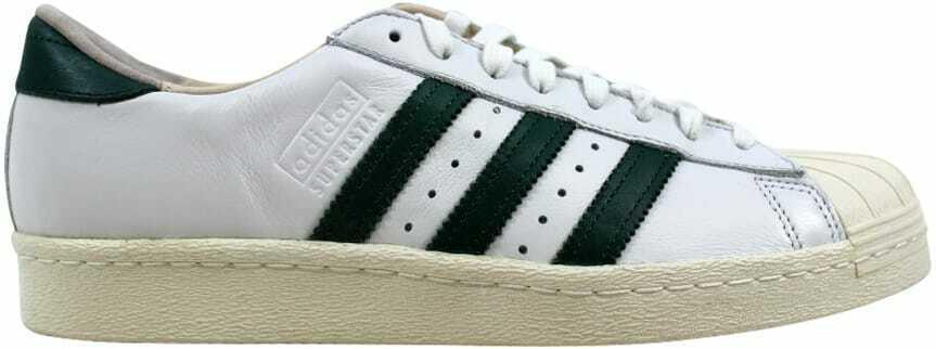 Adidas Superstar 80s Recon Crystal White Green-Off White B41719 Men's SZ 9