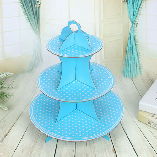 3 Tier Paper Cupcake Stand Holder Tower Wedding Party Dessert Cookie Display